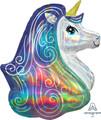 "30"" Super Jumbo Holographic Unicorn"