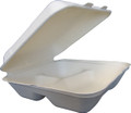 9x9 Greenwave Biodegradable Hinged Container - 3 compt