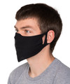 Black Fabric Mask - Washable - Made In USA - 2 pack