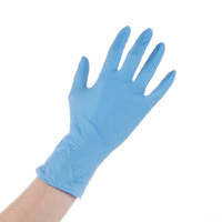 Nitrile Gloves Blue 4 Mill