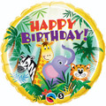 "18"" HBD  Jungle Friends"