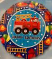 """18"""" Dalmatian In Fire Truck"""