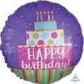"18"" HBD Cake Swirl"