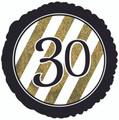 """18""""  """"30"""" Gold/White Sripes"""