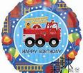 "18"" Fire Truck w/Dalmatian"