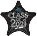 "18"" Class Of 2021 - Black/Silver"