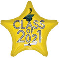 "18"" Class Of 2021 - Gold/Black"