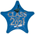 "18"" Class Of 2021 - Blue/Silver"