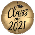 "18"" Class Of 2021 -Gold/Black"