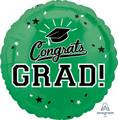 """18""""  Congrats Grad - Green"""