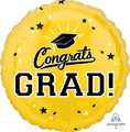 """18""""  Congrats Grad - Golden Yello"""