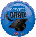 """18"""" Congrats Grad - Blue"""