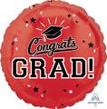 """18""""  Congrats Grad - Red"""