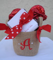 Burlap Basket Small
