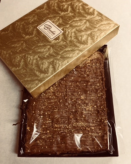 1 lb. Block Almond Toffee made with Fair Trade Belgian Chocolate  (Naturally Gluten Free)