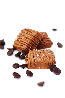 8 pc. Box SEA SALT CARAMELS made with Belgian Milk Chocolate