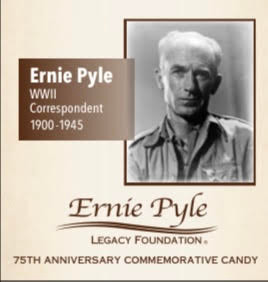 Ernie Pyle 75th Anniversary Candy Gift Box (2 oz Almond Toffee)