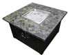 TFPS 40 Inch Square with Slate Table Top Multicolored Fire Pit Table - TFPS-WLF-LTC