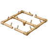 Ready to Finish Warming Trends DIY Fire Pit Kit 36 inch x 36 inch Square - Natural Gas or LP Burner