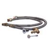 Warming Trends Crossfire 340K BTU 25 inch x 62 inch H-Style Burner System Natural Gas or LP  Flex