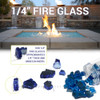 1/4 inch Pacific Blue Classic Fire Glass 4