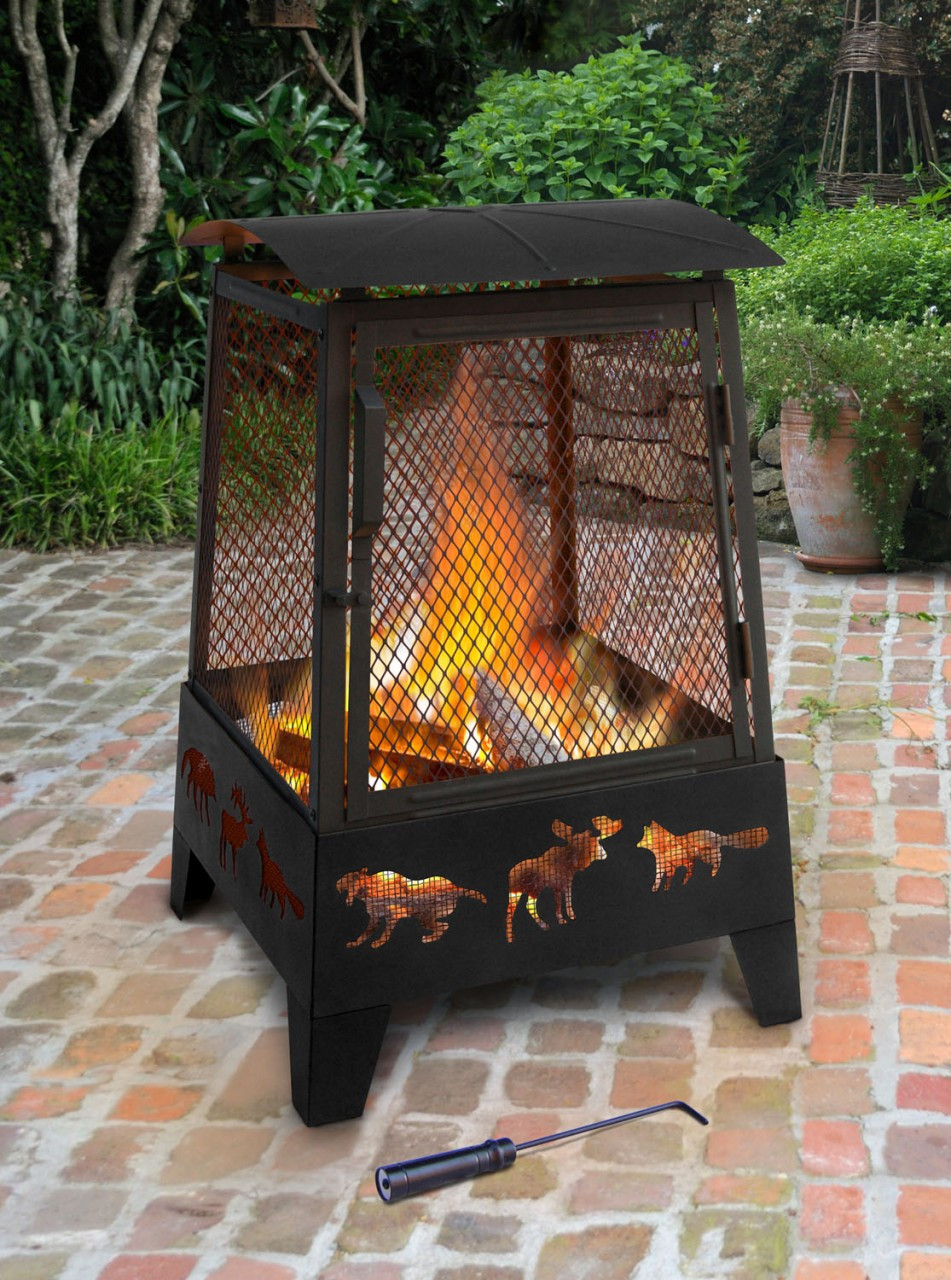 Landmann Haywood Wildlife Sturdy Steel Fire Pit 25319