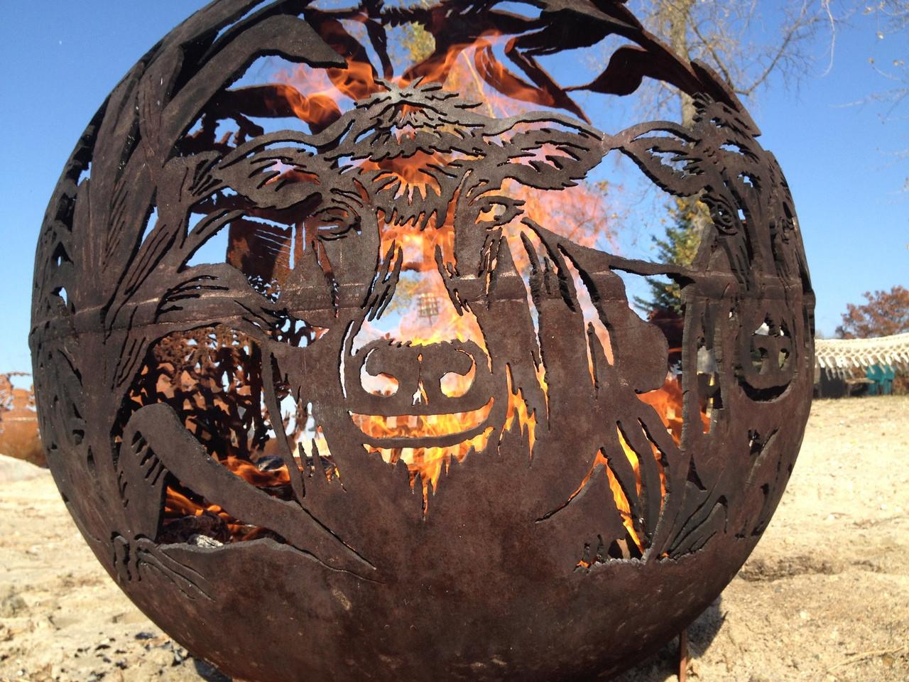 beautiful artistic fire pit fireball globes you didn 39 t. Black Bedroom Furniture Sets. Home Design Ideas