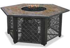 Blue Rhino Uniflame LP Propane Gas Fire Pit Table With Hexagon Slate Tile Mantel - GAD1374SP
