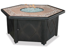 Blue Rhino Uniflame Propane Fire Pit Table - Decorative Tile Mantel