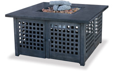 Blue Rhino Uniflame LP Propane Gas Fire Pit With Tile Mantel - GAD920SP