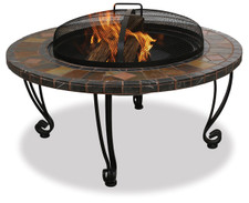 Blue Rhino UniFlame 34-Inch Slate & Marble Fire Pit with Copper Accents - WAD820SP