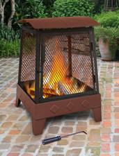 Landmann Haywood Tree Leaves Sturdy Steel Fire Pit - 25326