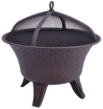Landmann The Bella Fire Pit Sturdy Steel Construction with Speckled Bronze Finish - 25458