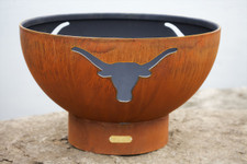 "Fire Pit Art 36"" Long Horn - The Heart Of Texas - LH"