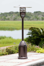 Fire Sense Well Traveled Living Hammer Tone Bronze Deluxe Patio Heater - 61315