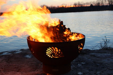 """Fire Pit Art 36"""" Beachcomber Fire Pit - Beach"""