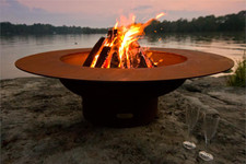 "Fire Pit Art Magnum 54"" Fire Pit With Cover - MAGLID"
