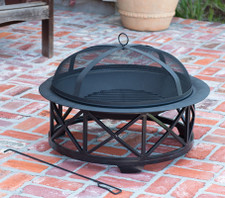 "Fire Sense Well Traveled Living 30"" Portsmouth Fire Pit - 60904"
