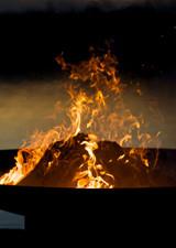 "Fire Pit Art 30"" Low Boy - Low Minimalist Retro Fire Pit - LB30"