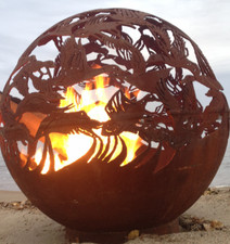 Fireball Fire Pits - Ducks - 37.5 inch Fire Globe - 3715du