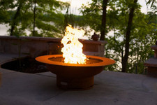 "Fire Pit Art Saturn 40"" Natural Gas or Propane Fire Pit - SATGAS"