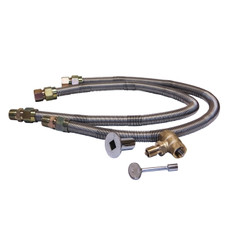 "Warming Trends 3/4"" Flex Line and 3/4"" Key Valve For Gas Burners"