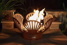"Fire Pit Art Barefoot Beach 36"" Natural Gas or Propane Fire Pit - BBGAS"