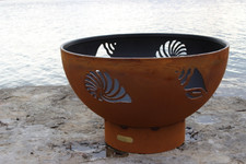 "Fire Pit Art Beachcomber 36"" Natural Gas or Propane Fire Pit - BEACHGAS"