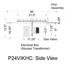 Warming Trends Premium 24V Honeywell Electronic Ignition - High Capacity  up to 512K BTU - P24VIK-HC