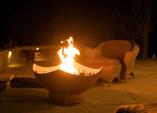 "Fire Pit Art Manta Ray 36"" Natural Gas or Propane Fire Pit - MANTARAYGAS"