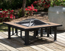 Fire Sense Well Traveled Tuscan Tile Mission Style Square Fire Pit - 60243