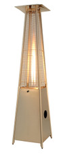 "TFPS Patio Heaters 91"" Tall Commercial Triangle Glass Tube Heater - Stainless Steel Patio Heater - TFPS-HLDS01-GTSS"