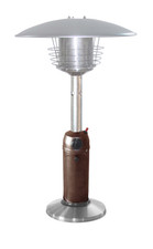"TFPS Patio Heaters 39"" Tall Table Top - Hammered Bronze Stainless Steel Patio Heater - TFPS-HLDS032-BB"