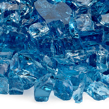 1/2 inch Pacific Blue Classic Fire Glass